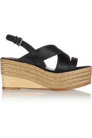 Lanvin Satin espadrille wedge sandals