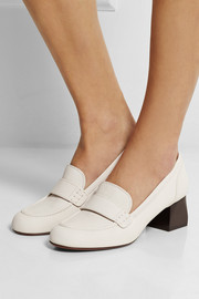 Lanvin Textured-leather pumps