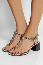 Lanvin Studded elaphe sandals