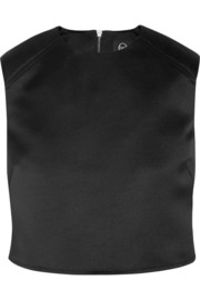 Cropped duchesse-satin top
