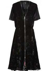 McQ Alexander McQueen Pleated silk-chiffon dress