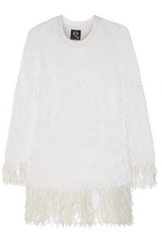 McQ Alexander McQueen Sequin-embellished wool mini sweater dress