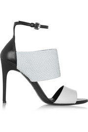McQ Alexander McQueen Snake-effect leather sandals