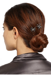 Jennifer Behr Spider Swarovski crystal-embellished hair slides