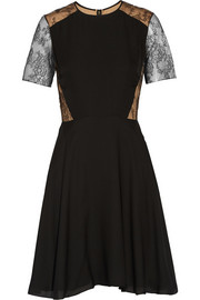 Silk and lace dress
