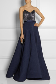 Jason Wu Beaded silk-cloqué gown