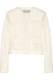 Jason Wu Embroidered lace and cotton-blend jacket