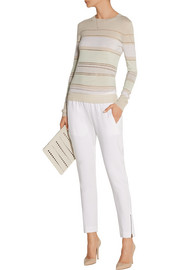Jason Wu Striped merino wool-blend sweater