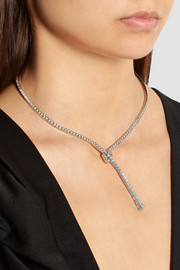 Gucci Chiodo 18-karat white gold diamond necklace