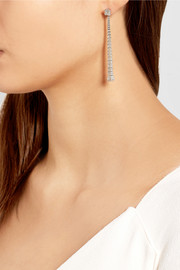 Gucci Chiodo 18-karat white gold diamond drop earrings