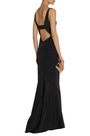 Narciso Rodriguez Cutout silk-crepe gown