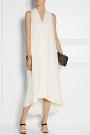 Narciso Rodriguez Asymmetric silk-georgette gown