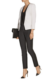 Narciso Rodriguez Silk faille-trimmed wool-crepe blazer