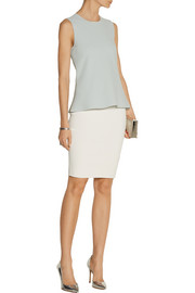 Narciso Rodriguez Two-tone stretch-knit pencil skirt