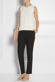 Narciso Rodriguez Cutout stretch-twill top