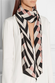 Striped silk scarf