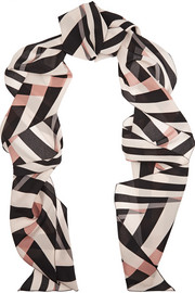 Lanvin Striped silk scarf