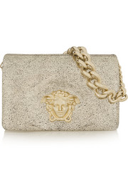 Versace Metallic suede shoulder bag