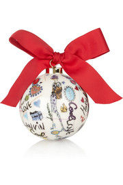 Lanvin Printed porcelain bauble