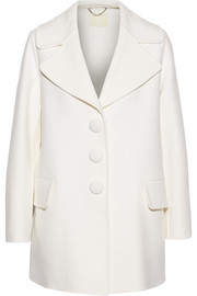 Wool, angora and cashgora-blend coat