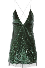 Marc Jacobs Sequined tulle mini dress