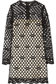 Marc Jacobs Guipure lace and silk-satin dress