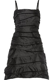 Marc Jacobs Tiered silk-satin mini dress