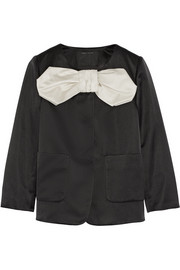 Bow-embellished duchesse-satin jacket