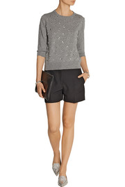 Marc Jacobs Embellished wool and cashmere-blend sweater