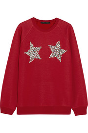 Embellished knitted sweater