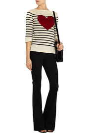 Marc Jacobs Sequined striped cotton-blend sweater