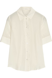 Marc Jacobs Ruffled silk crepe de chine blouse