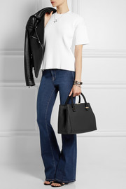 Quincy textured-leather tote