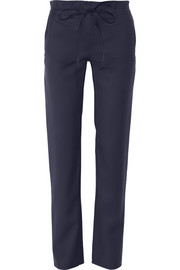 Adam Lippes Wool-gabardine straight-leg pants