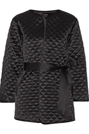 Quilted silk-satin jacket