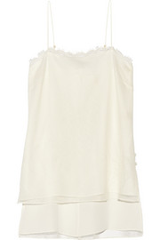 Adam Lippes Lace and silk camisole