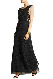 Adam Lippes Cotton-blend lace and tulle gown