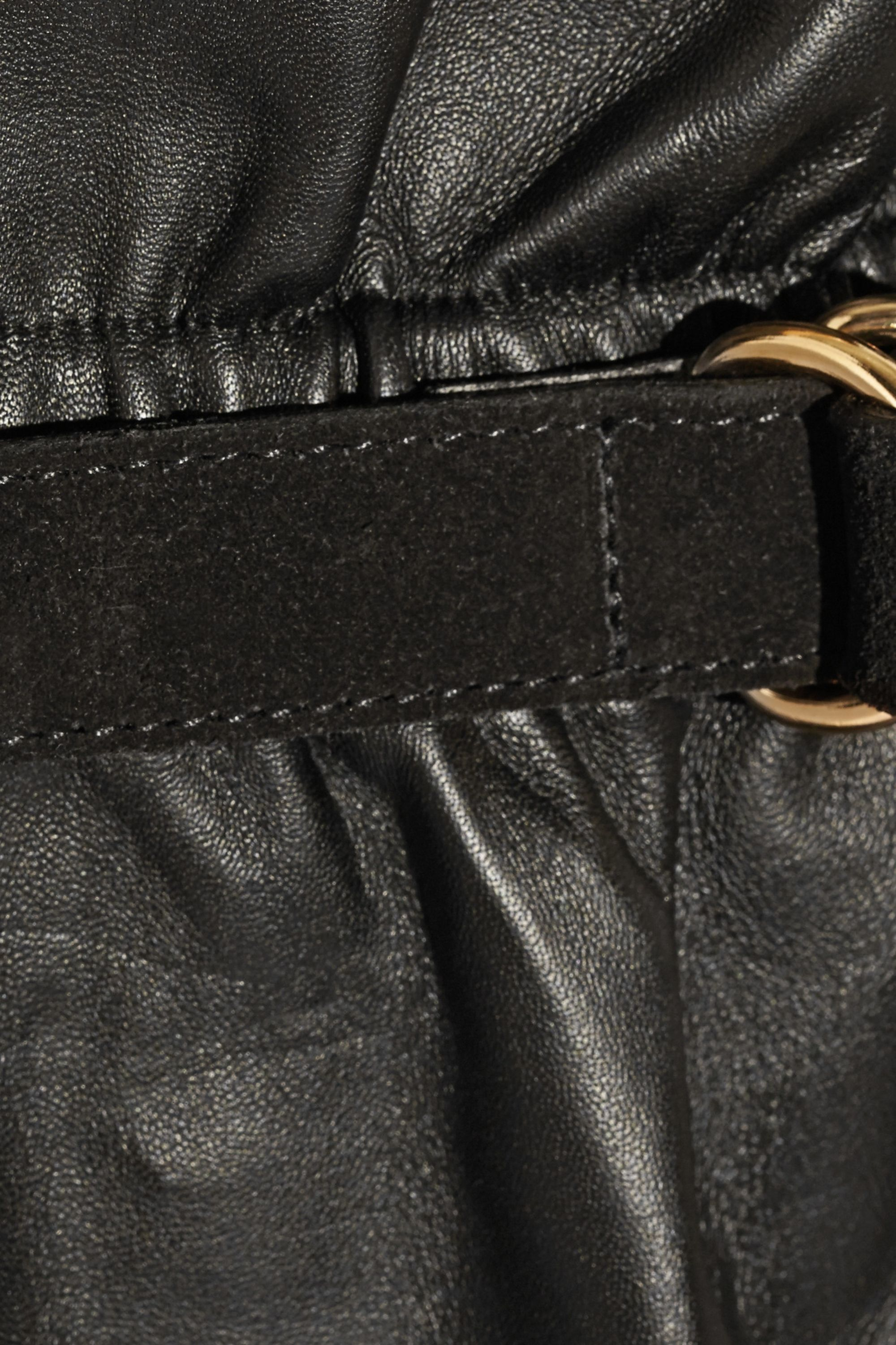 Adam Lippes Belted leather mini skirt