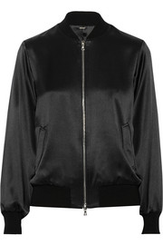 Adam Lippes Silk-satin bomber jacket