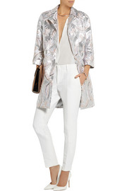 Adam Lippes Metallic jacquard coat