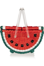 Charlotte Olympia Watermelon Basket straw tote
