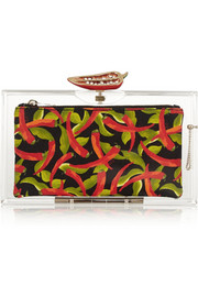 Charlotte Olympia Chili Pandora Perspex clutch