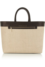 Victoria Beckham Liberty Inside Out canvas and leather tote