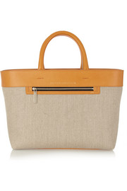 Quincy Inside Out canvas and leather tote
