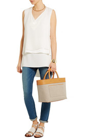 Victoria Beckham Quincy Inside Out canvas and leather tote