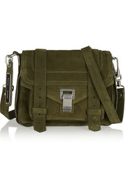 The PS1 small suede shoulder bag