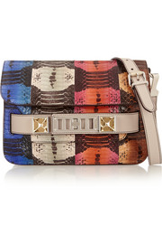 Proenza Schouler The PS11 Classic color-block ayers and leather shoulder bag