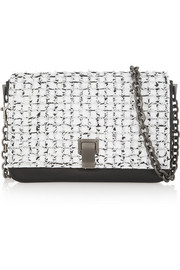 Proenza Schouler Courier small two-tone leather shoulder bag