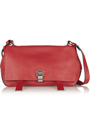 Courier textured-leather shoulder bag