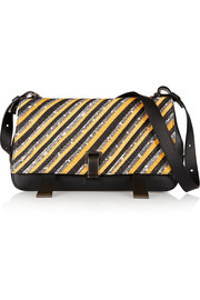 Courier mangrove snake and leather shoulder bag
